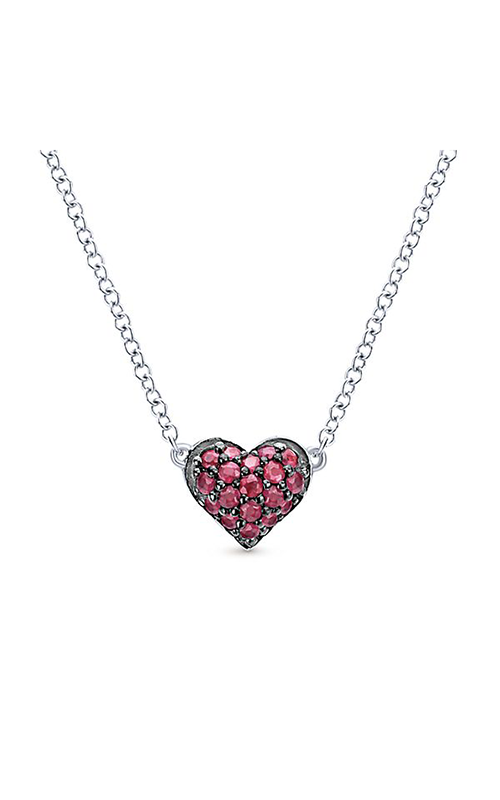 Gabriel & Co. Eternal Love Necklace NK4325SVJRB product image