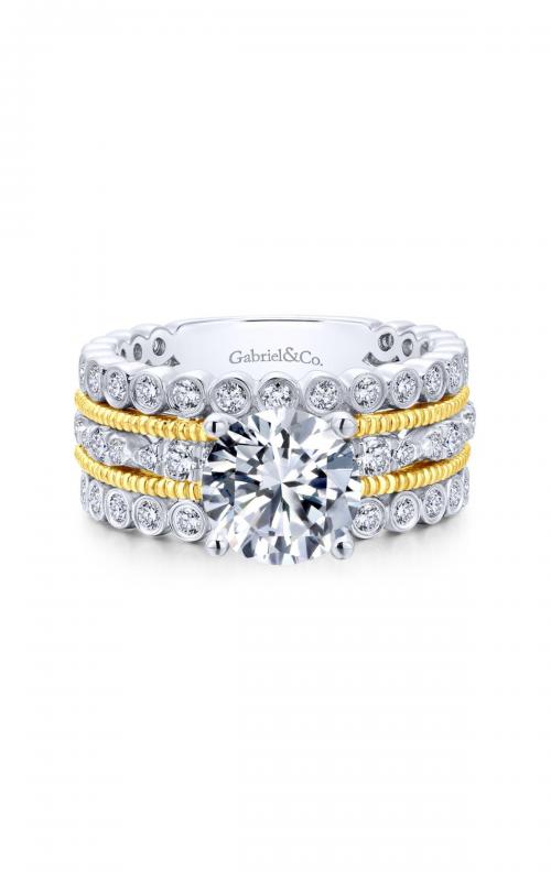 Gabriel & Co. Contemporary Engagement Ring ER12199R6M84JJ product image