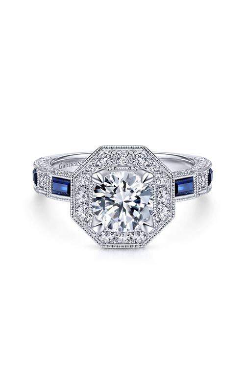 Gabriel & Co Art Deco Engagement Ring ER14494R4W44SA product image