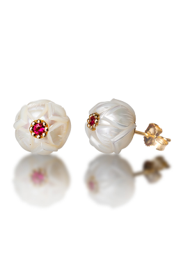 Galatea Pearl Flower Earrings PB7E product image