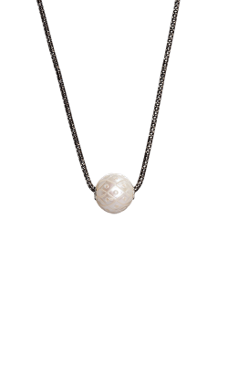 Galatea Carved Pearl & Sterling Necklace 8017NW product image