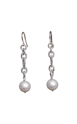 Galatea Carved Pearl & Sterling Earring 8013EW product image