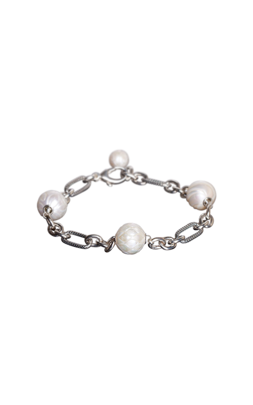 Galatea Carved Pearl & Sterling Bracelet 8001BW product image