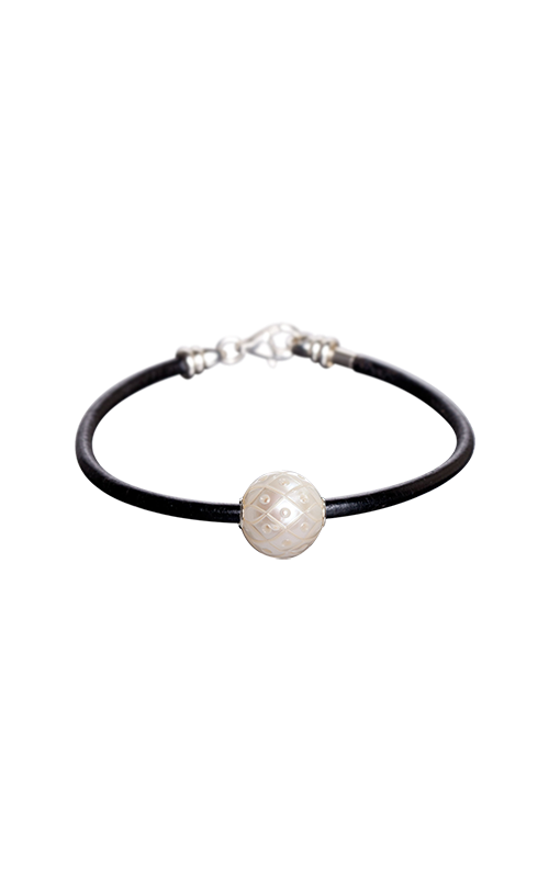Galatea Carved Pearl & Sterling Bracelet 8005BW product image