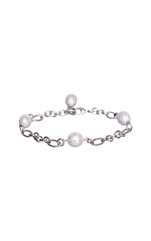 Galatea Carved Pearl & Sterling Bracelet 8013BW product image