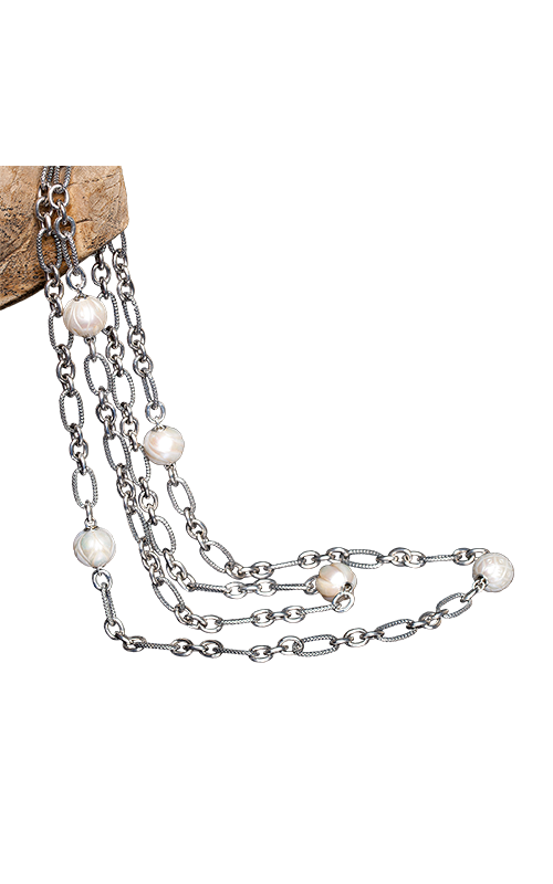 Galatea Carved Pearl & Sterling  8004NW product image