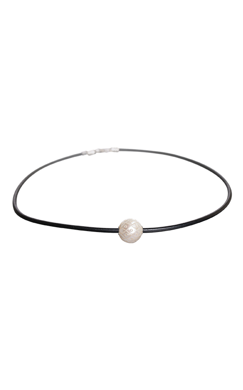 Galatea Carved Pearl & Sterling Necklace 8006NW product image