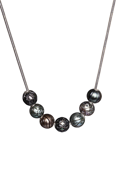 Galatea Carved Pearl & Sterling  8010NT product image