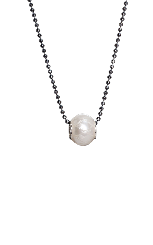 Galatea Carved Pearl & Sterling Necklace 8016NW product image