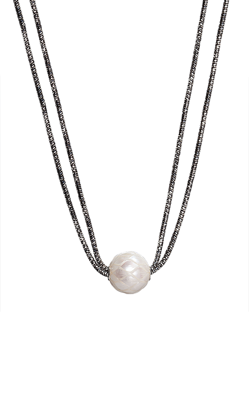 Galatea Carved Pearl & Sterling Necklace 8018NW product image