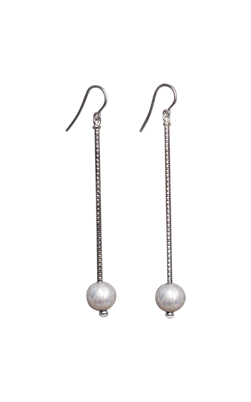 Galatea Carved Pearl & Sterling Earrings 8003EW product image