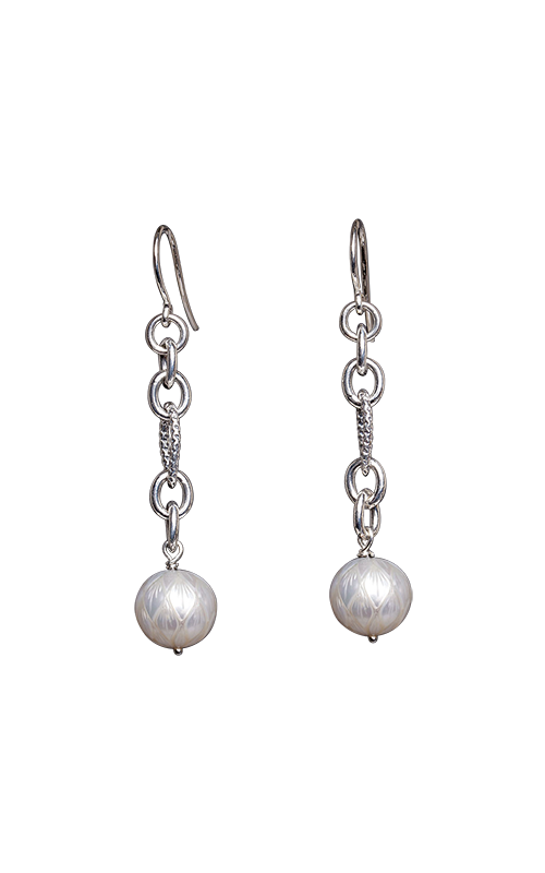 Galatea Carved Pearl & Sterling Earrings 8013EW product image