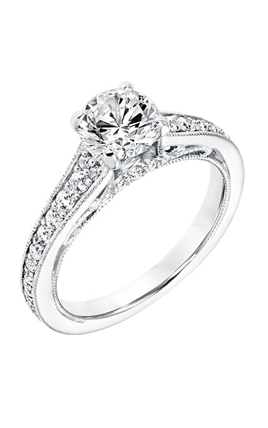 Goldman Vintage Engagement Ring 31-11040DRW-E product image