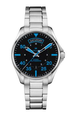 Khaki Pilot Air Zermatt Day Date Auto Watch H64625131 product image