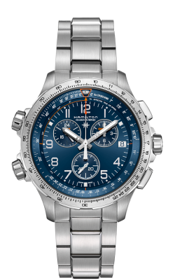 Hamilton Khaki X-Wind GMT Chrono Quartz Watch H77922141 product image