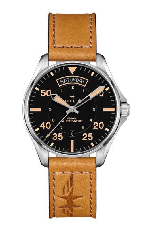 Hamilton Khaki Pilot Day Date Auto Watch H64645531 product image