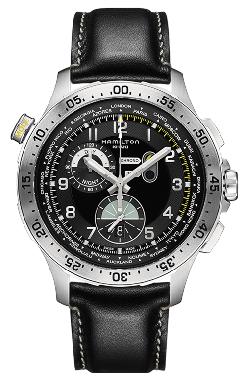 Hamilton Khaki Aviation Worldtimer Watch H76714735 product image