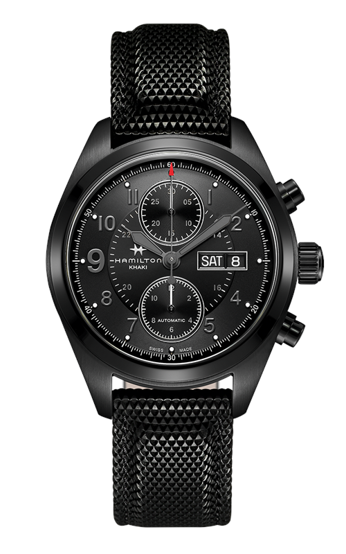 Hamilton Khaki Field Autochrono Full Black Watch H71626735 product image