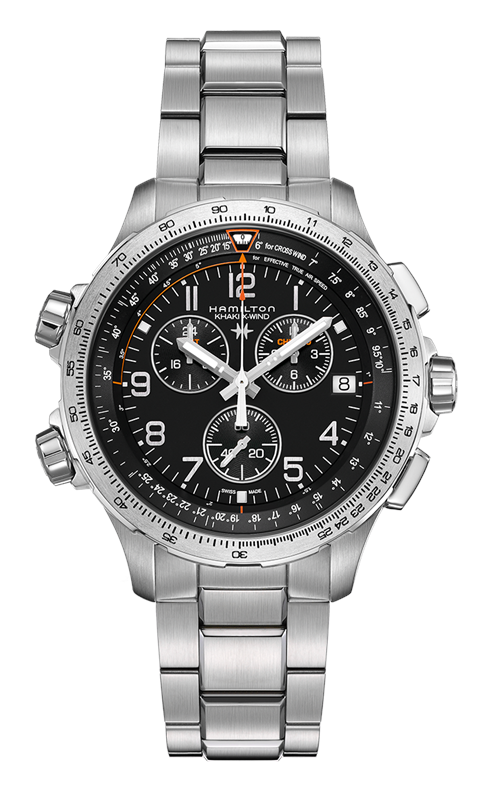 Hamilton Khaki Aviation X-Wind Quartz Chrono GMT Watch H77912135 product image