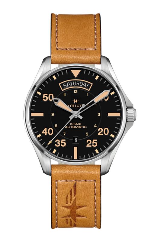 Hamilton Khaki Pilot Day Date Auto Watch H64645531 product image