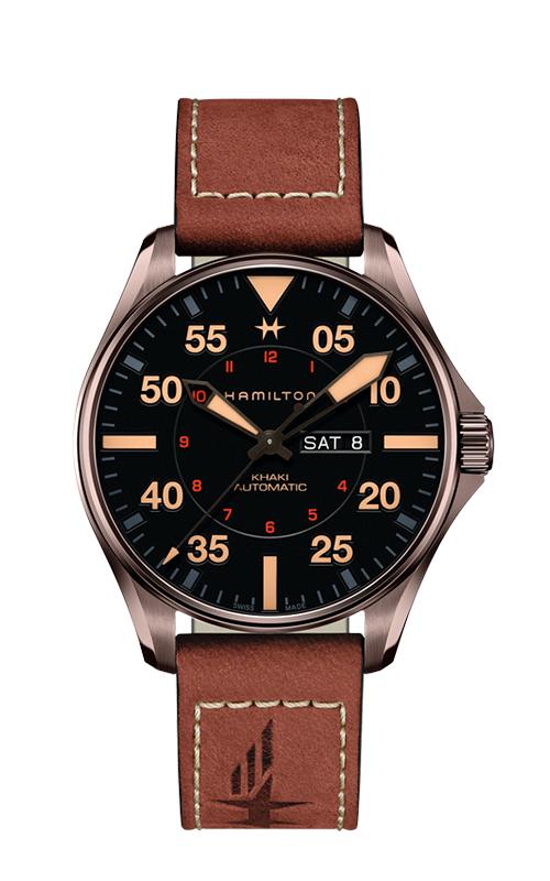 Hamilton Khaki Pilot Day Date Auto Watch H64705531 product image