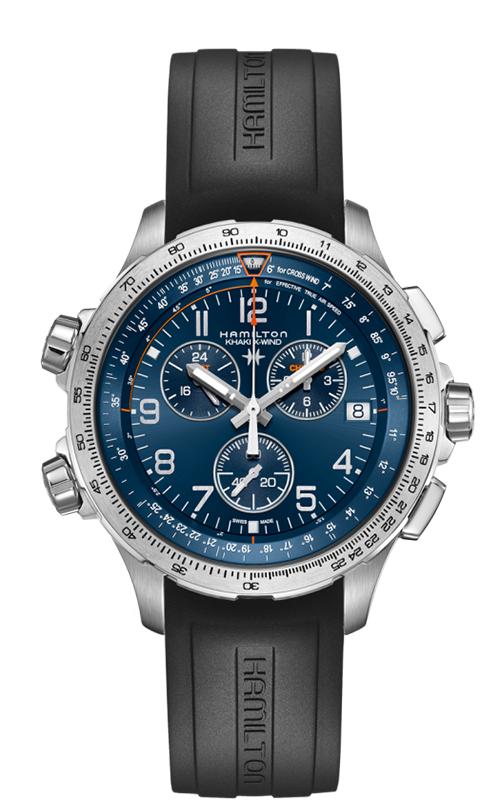 Hamilton Khaki X-Wind GMT Chrono Quartz Watch H77922341 product image