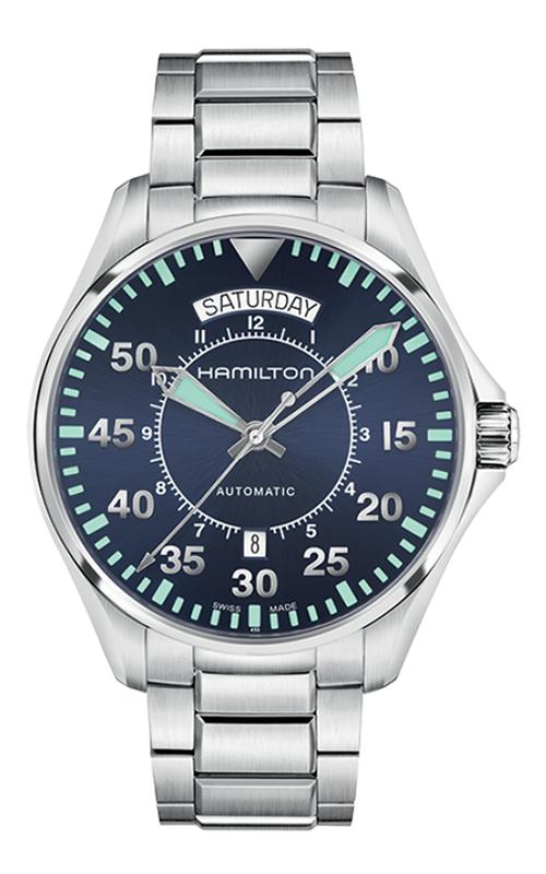 Hamilton Khaki Aviation Pilot Day Date Auto Watch H64615145 product image