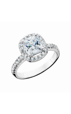 HL Mfg Halo Engagement Ring 10660W product image