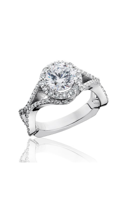 HL Mfg Halo Engagement Ring 10740 product image