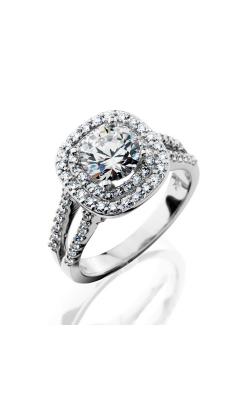 HL Mfg Halo Engagement Ring 10709W product image