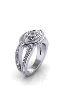 HL Mfg Halo Engagement Ring 10708 product image