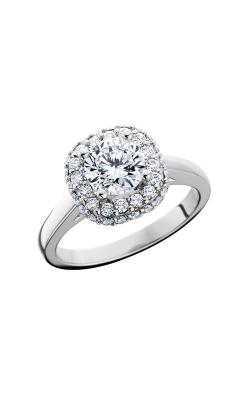 HL Mfg Halo Engagement ring 10704W product image