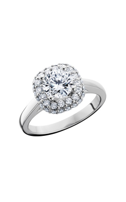 HL Mfg Halo Engagement ring 10704W product image