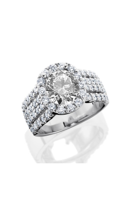 HL Mfg Halo Engagement ring 10699W product image