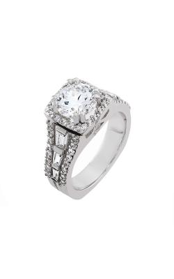 HL Mfg Halo Engagement Ring 10683W product image