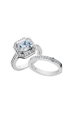 HL Mfg Halo Engagement ring 10672WSET product image