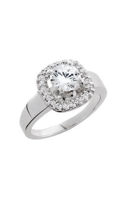 HL Mfg Halo Engagement ring 10661W product image