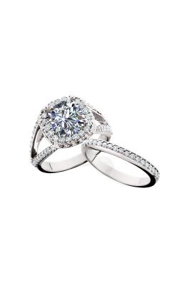 HL Mfg Halo Engagement ring 10638DMBW product image