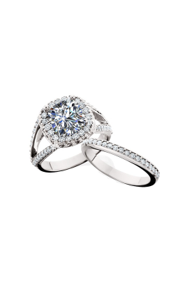 HL Mfg Halo Engagement ring 10638DMBW product image