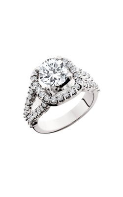 HL Mfg Halo Engagement Ring 10619W product image