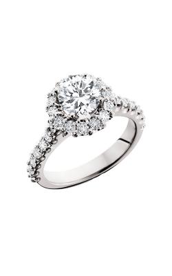 HL Mfg Halo Engagement ring 10612W product image