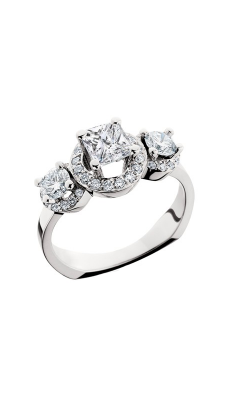 HL Mfg Halo Engagement Ring 10568W product image