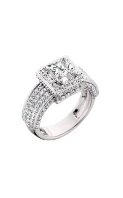 HL Mfg Halo Engagement ring 10451W product image