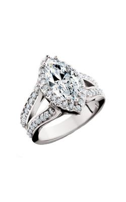 HL Mfg Halo Engagement ring 10639W product image