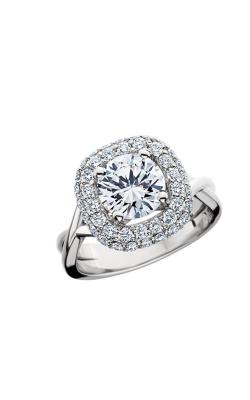 HL Mfg Halo Engagement ring 10697W product image