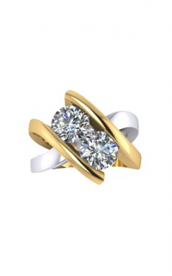 HL Mfg Contemporary Collections Engagement ring 10757TT product image