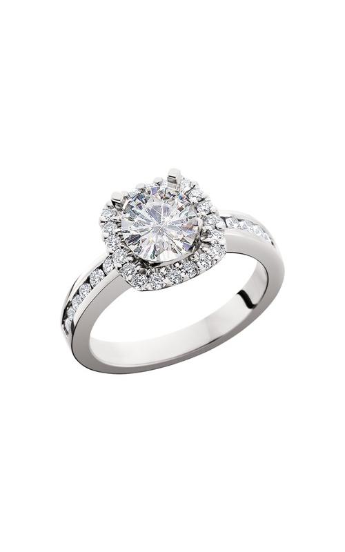HL Mfg Halo Engagement ring 10674W product image