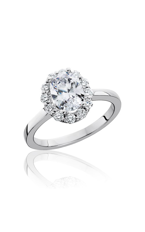 HL Mfg Halo Engagement ring 10744 product image