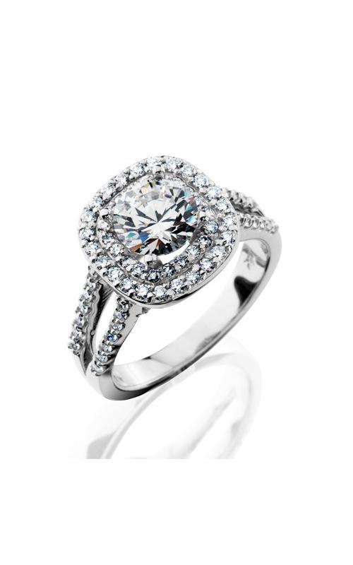 HL Mfg Halo Engagement ring 10709W product image