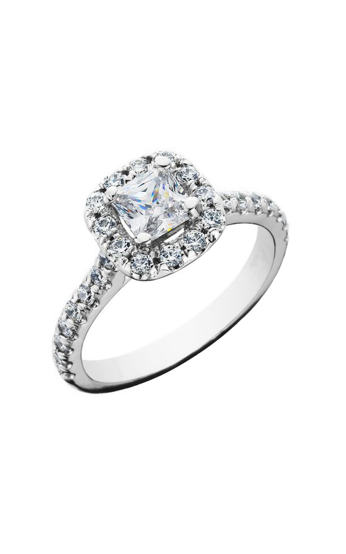 HL Mfg Halo Engagement ring 10670W product image